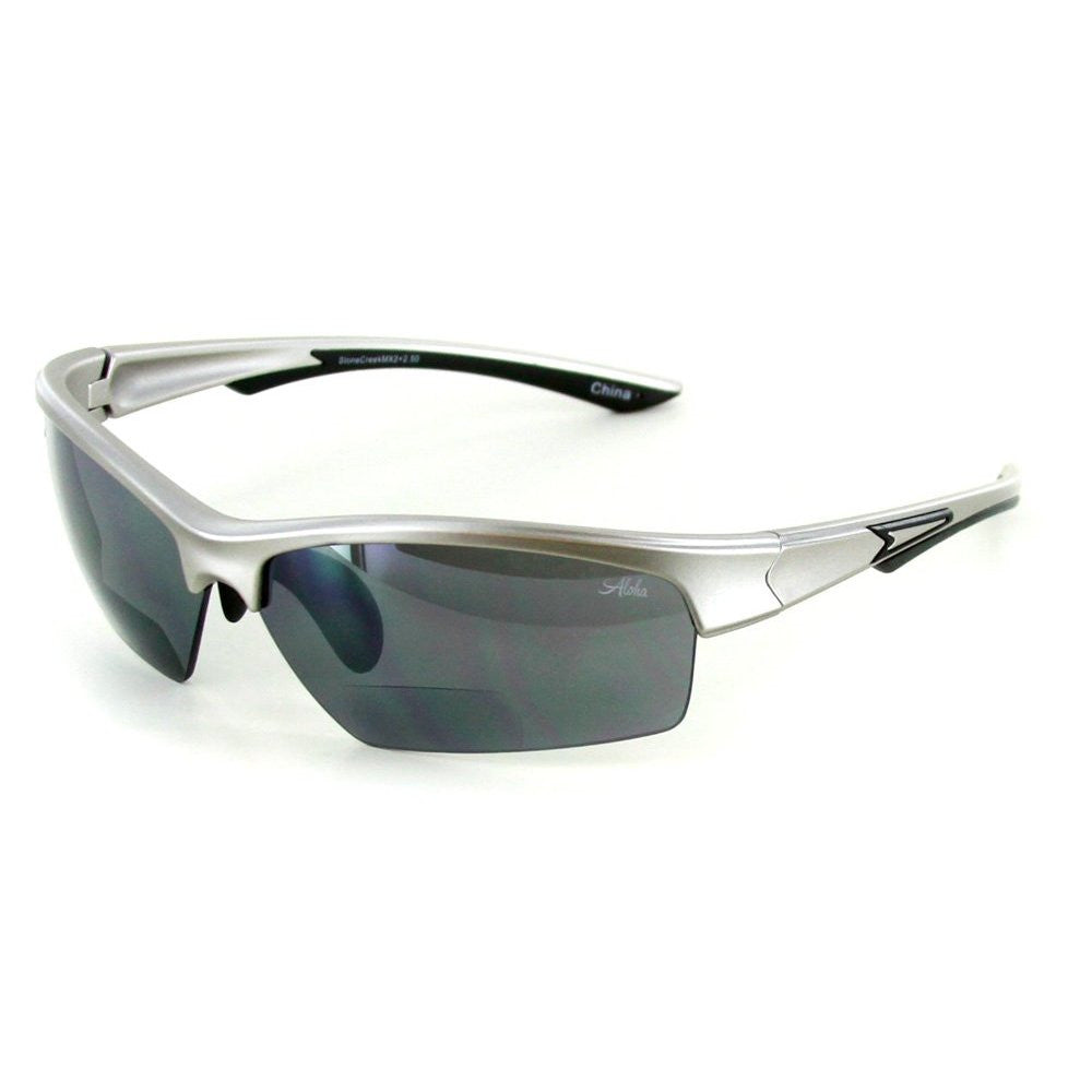 """Stone Creekå¨ MX2"" Bifocal Sunglasses with Wrap-Around Sports Design and Flash Mirror Lenses Unisex - Aloha Eyes - 2"