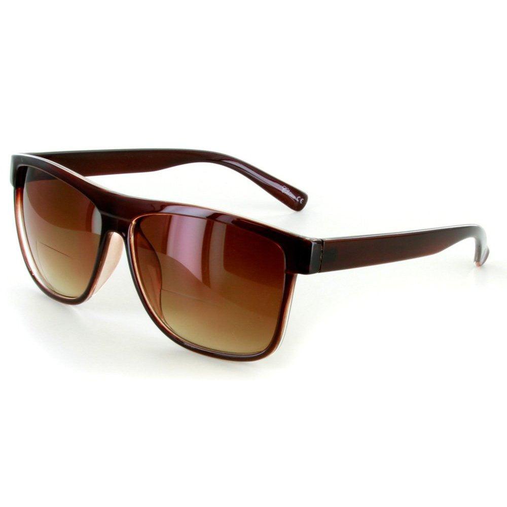 """Hipsters"" Extra Dark Bifocal Sunglasses with Wayfarer Shape for Men and Women - Aloha Eyes - 2"