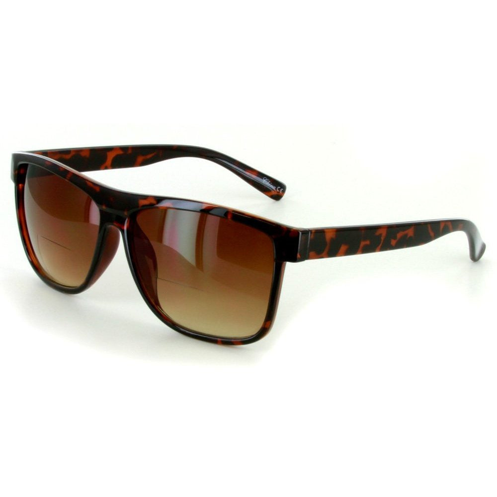 """Hipsters"" Extra Dark Bifocal Sunglasses with Wayfarer Shape for Men and Women - Aloha Eyes - 3"