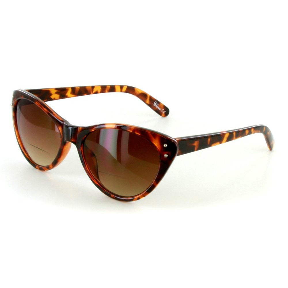 """Prowl"" Bifocal Sunglasses with Designer Cateye Shape for Stylish Women - Aloha Eyes - 2"
