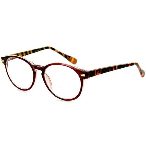 """Professor"" Fashion Bifocal Readers with Vintage Retro Design with a RX-able frame - Aloha Eyes - 1"