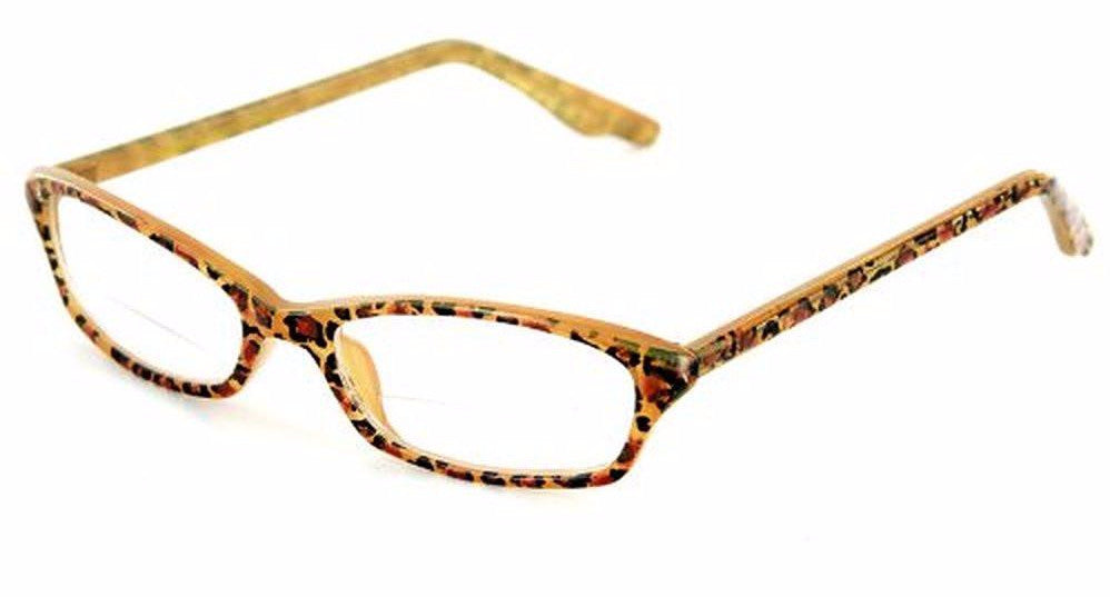 """Exotica"" Animal Print Bifocal Readers with Slim Design and an Optical Frame - 51mm x 17mm x 140mm - Aloha Eyes - 1"
