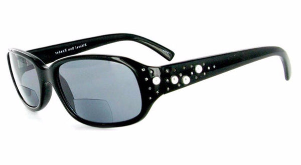 """Diamonds and Pearls"" designer bifocal sunglasses 53mm x 18mm x 135mm - Aloha Eyes - 1"