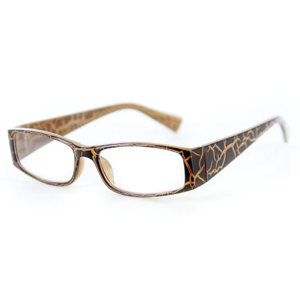 """Wild Side"" Trendy Rectangular Reading Glasses with Animal Print for Stylish Women - Aloha Eyes - 1"