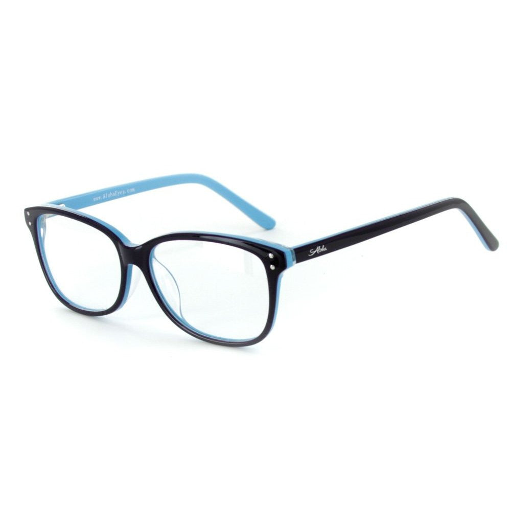 """Fuji"" Optical-Quality RX-Able Wayfarer Frames 53mm x 14mm x 135mm - Aloha Eyes - 3"