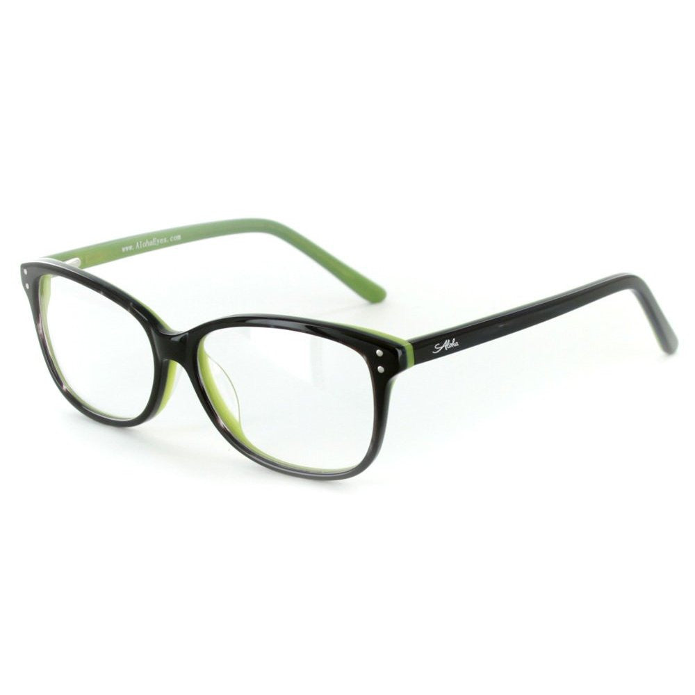 """Fuji"" Optical-Quality RX-Able Wayfarer Frames 53mm x 14mm x 135mm - Aloha Eyes - 2"