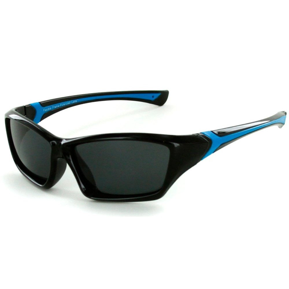 """Splash"" Polarized, 100% UV, Wrap Around Sunglasses for Boys and Girls from our Alha Kids Collection - Aloha Eyes - 2"