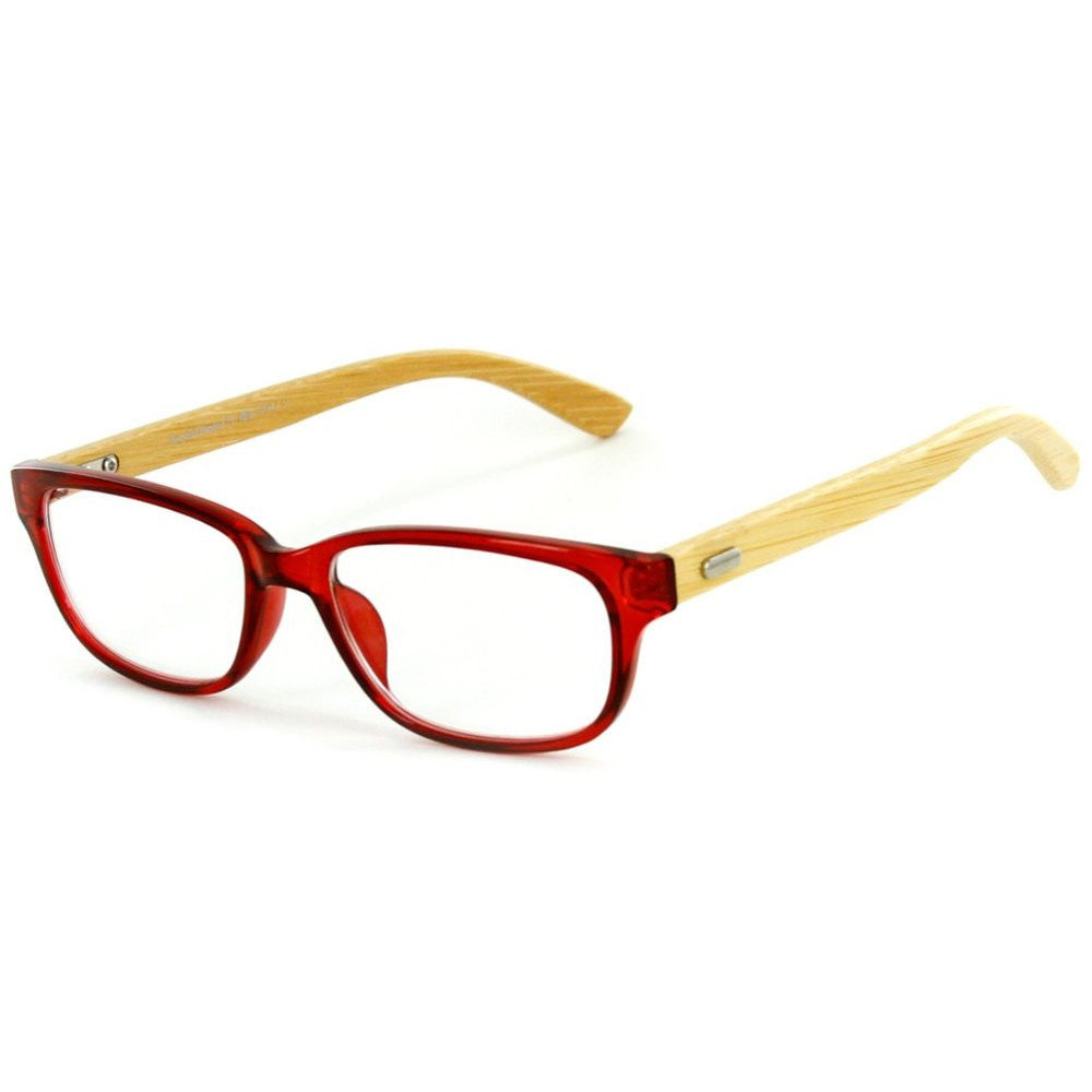 """Zen Garden"" Eco-Chic Wayfarer Reading Glasses with Natural Bamboo Temples - Aloha Eyes - 2"