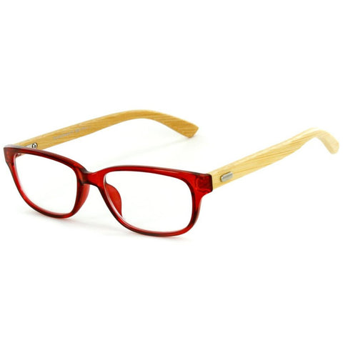 """Zen Garden"" Eco-Chic Wayfarer Reading Glasses with Natural Bamboo Temples - Aloha Eyes - 1"
