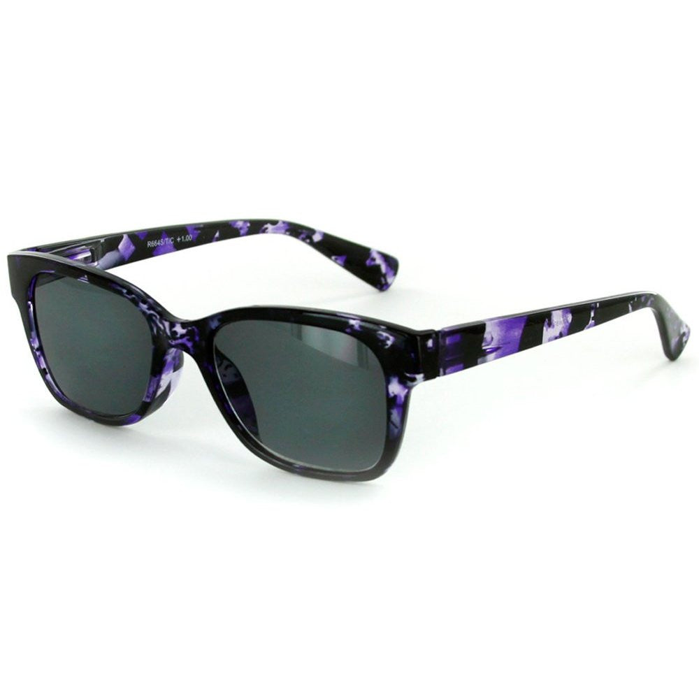 """Tropix"" Women's Wayfarer Full-Reading Sunglasses (Non Bifocal)  - 100% UV - Aloha Eyes