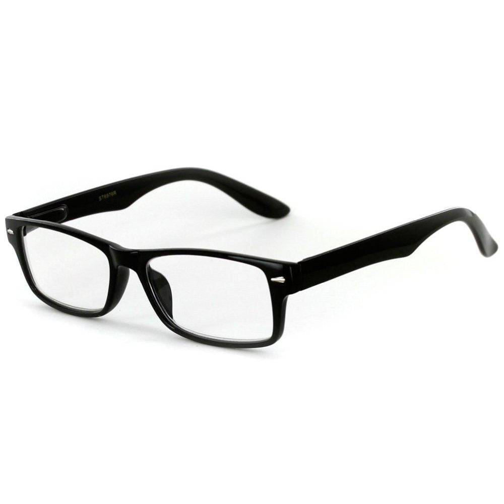 """Executive"" Professional Series Wayfarer Reading Glasses with Slim Styling for Bold and Modern Men - Aloha Eyes - 4"