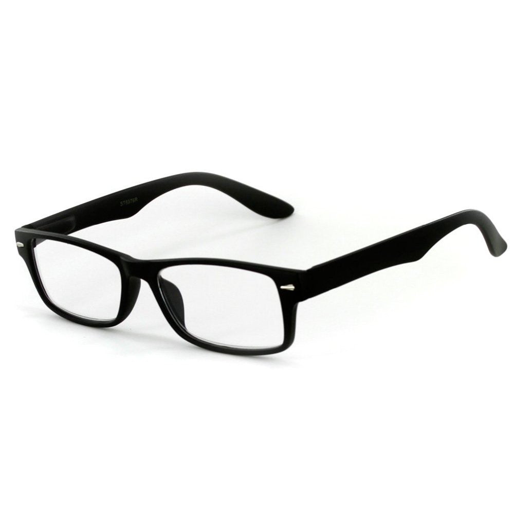 """Executive"" Professional Series Wayfarer Reading Glasses with Slim Styling for Bold and Modern Men - Aloha Eyes - 2"