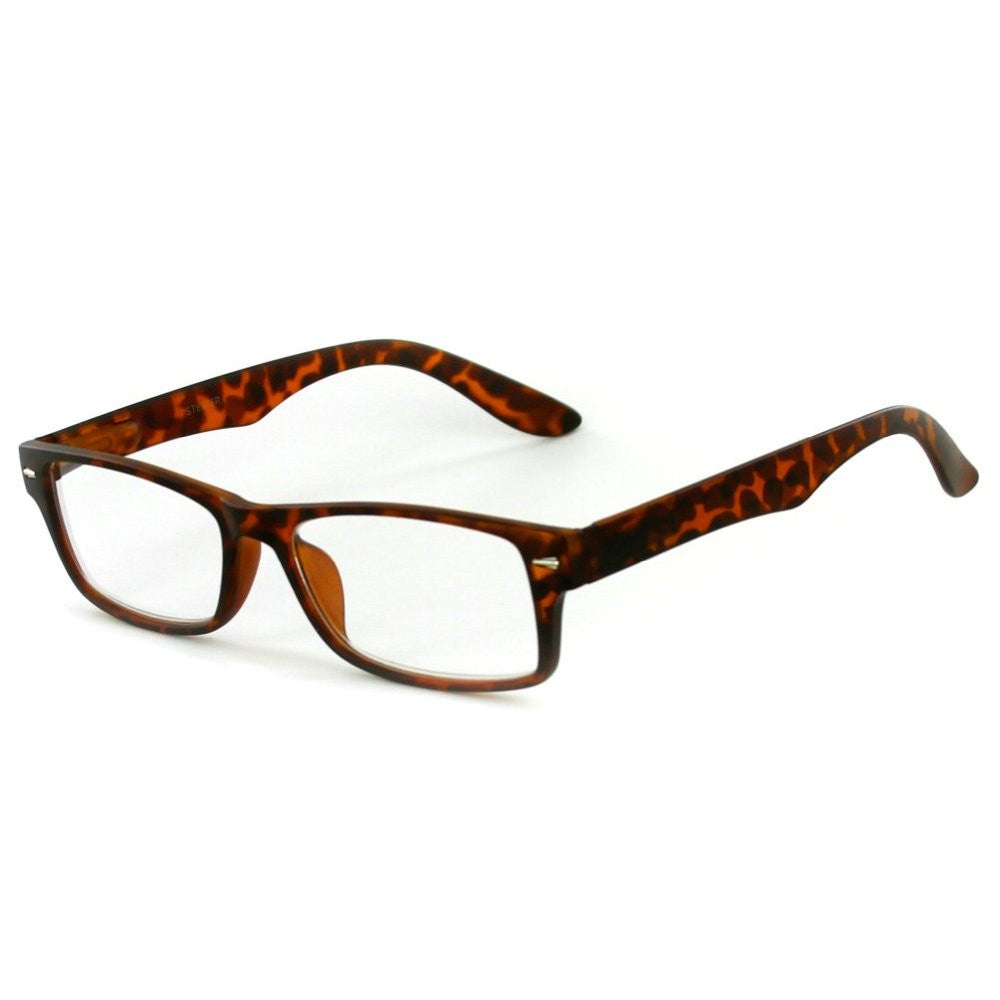 """Executive"" Professional Series Wayfarer Reading Glasses with Slim Styling for Bold and Modern Men - Aloha Eyes - 3"