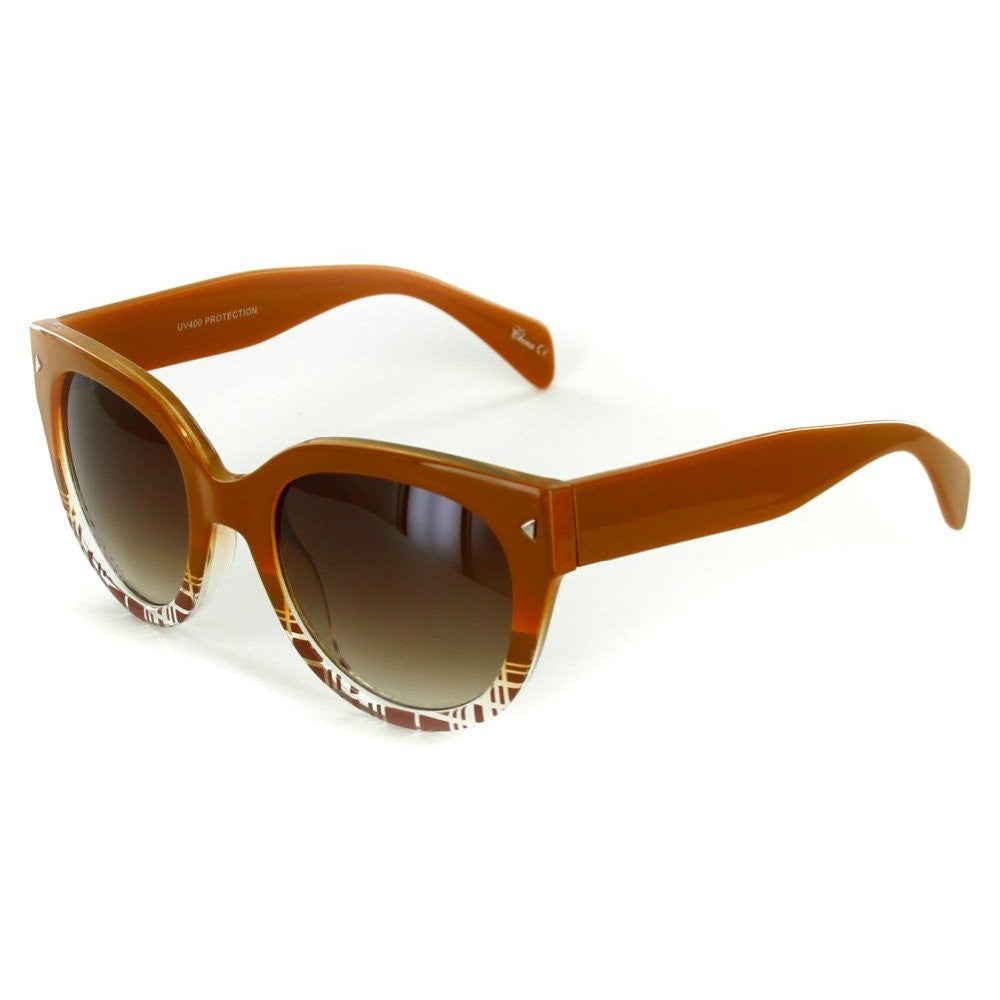 """Edgewater"" Wayfarer Cateye Sunglasses with Patterned Frames for Youthful and Stylish Women - Aloha Eyes - 4"