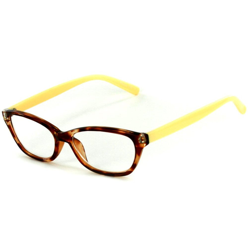 """Los Gatos"" Cateye Wayfarer Reading Glasses with Multicolored Tortoise Frames for Women - Aloha Eyes - 2"