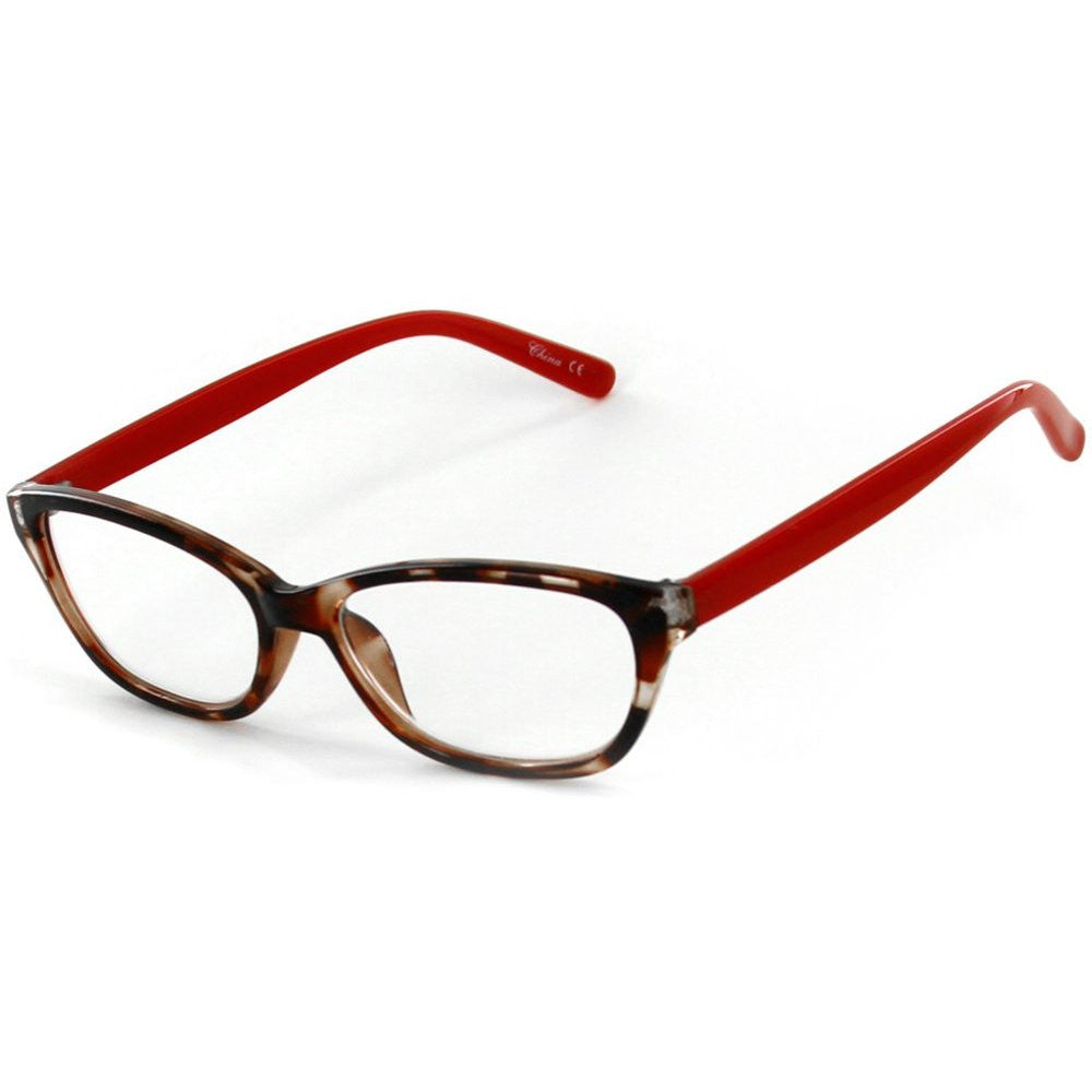 """Los Gatos"" Cateye Wayfarer Reading Glasses with Multicolored Tortoise Frames for Women - Aloha Eyes - 3"