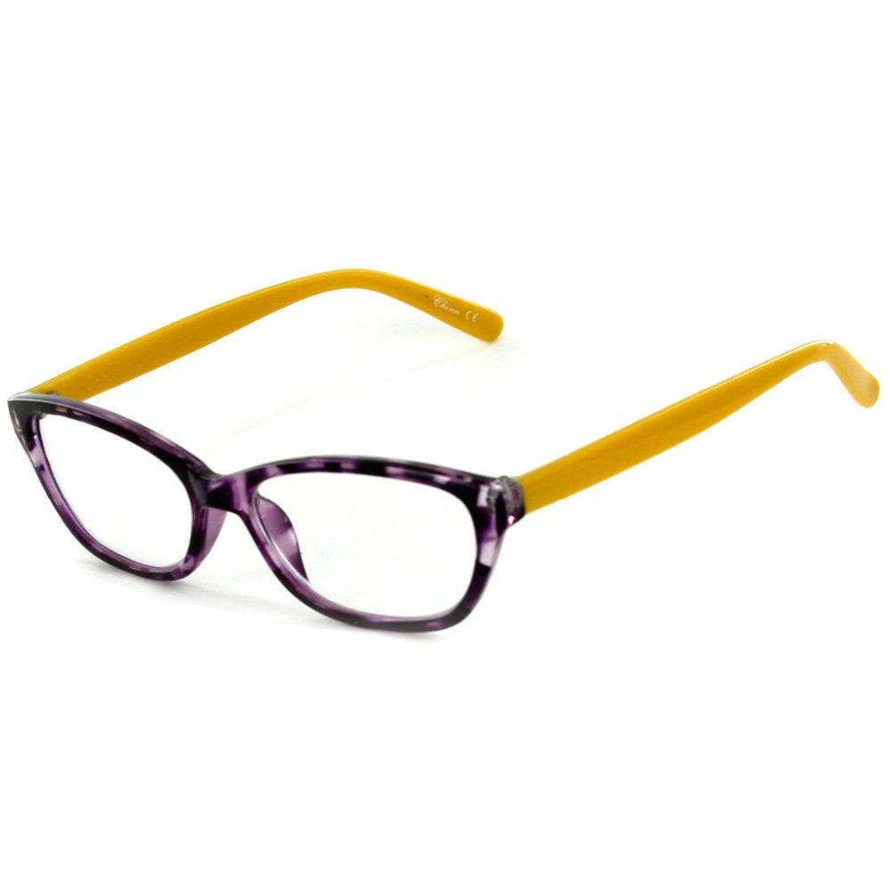 """Los Gatos"" Cateye Wayfarer Reading Glasses with Multicolored Tortoise Frames for Women - Aloha Eyes - 4"