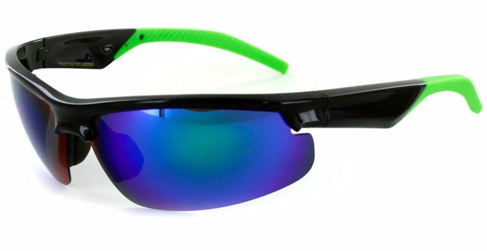 """Power Sport X570022"" Polarized Wrap Around Sports Sunglasses with Mirror Lens - Aloha Eyes - 1"