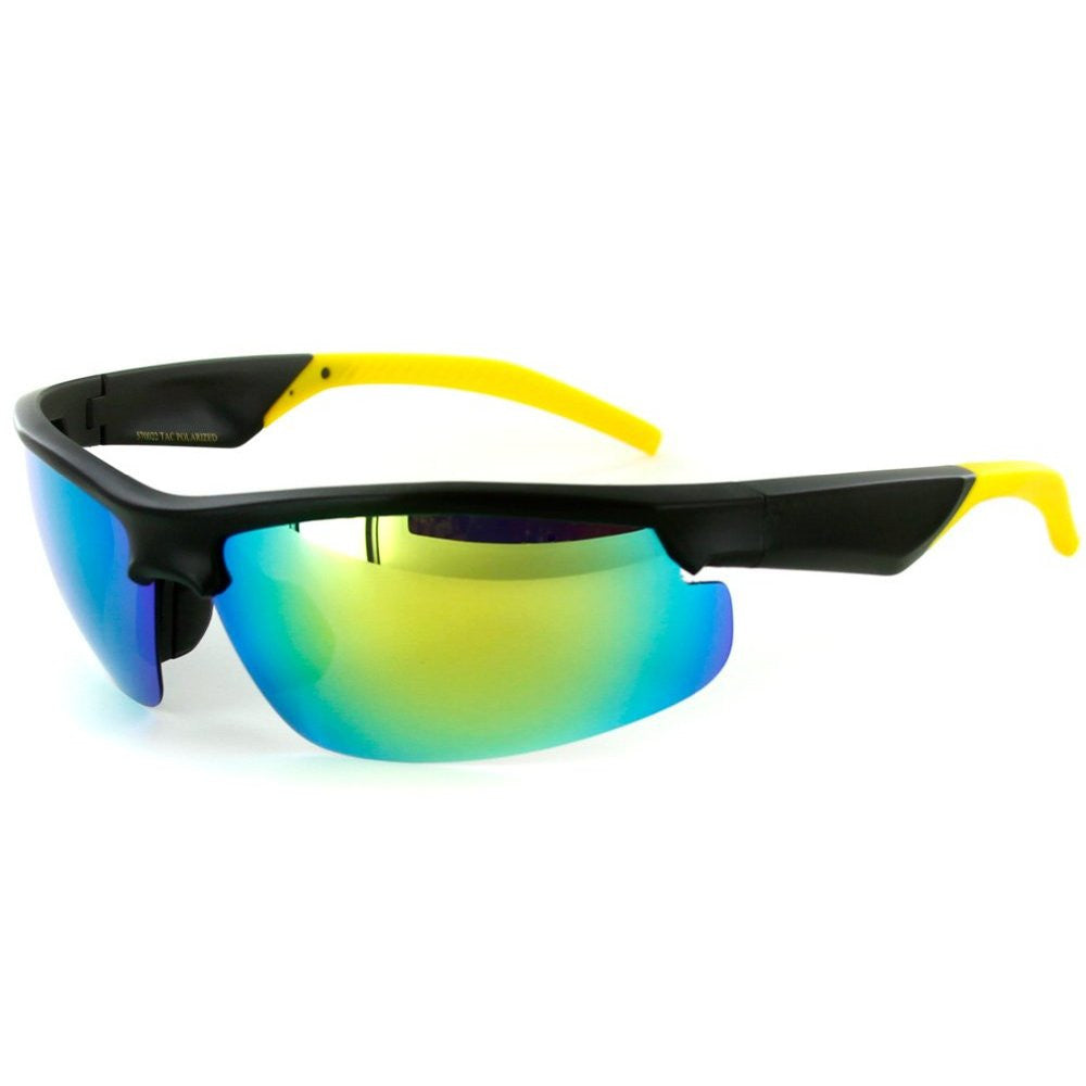 """Power Sport X570022"" Polarized Wrap Around Sports Sunglasses with Mirror Lens - Aloha Eyes - 2"