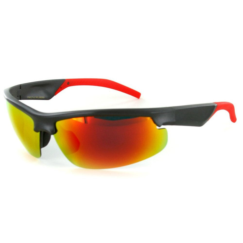 """Power Sport X570022"" Polarized Wrap Around Sports Sunglasses with Mirror Lens - Aloha Eyes - 3"