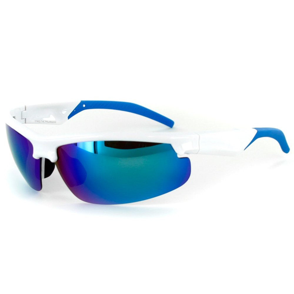 """Power Sport X570022"" Polarized Wrap Around Sports Sunglasses with Mirror Lens - Aloha Eyes - 4"