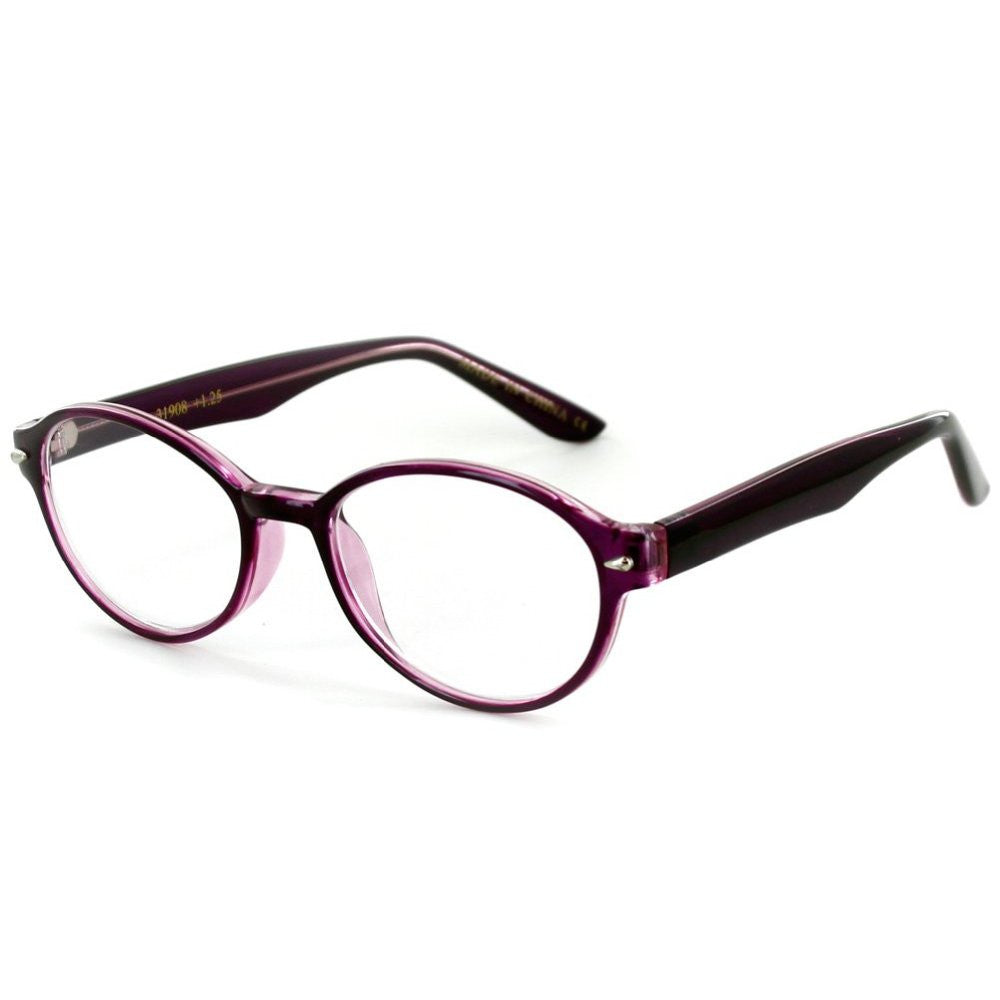 """Islander RX05"" Round Wayfarer Reading Glasses in RX-Able Frames for Women - Aloha Eyes - 3"