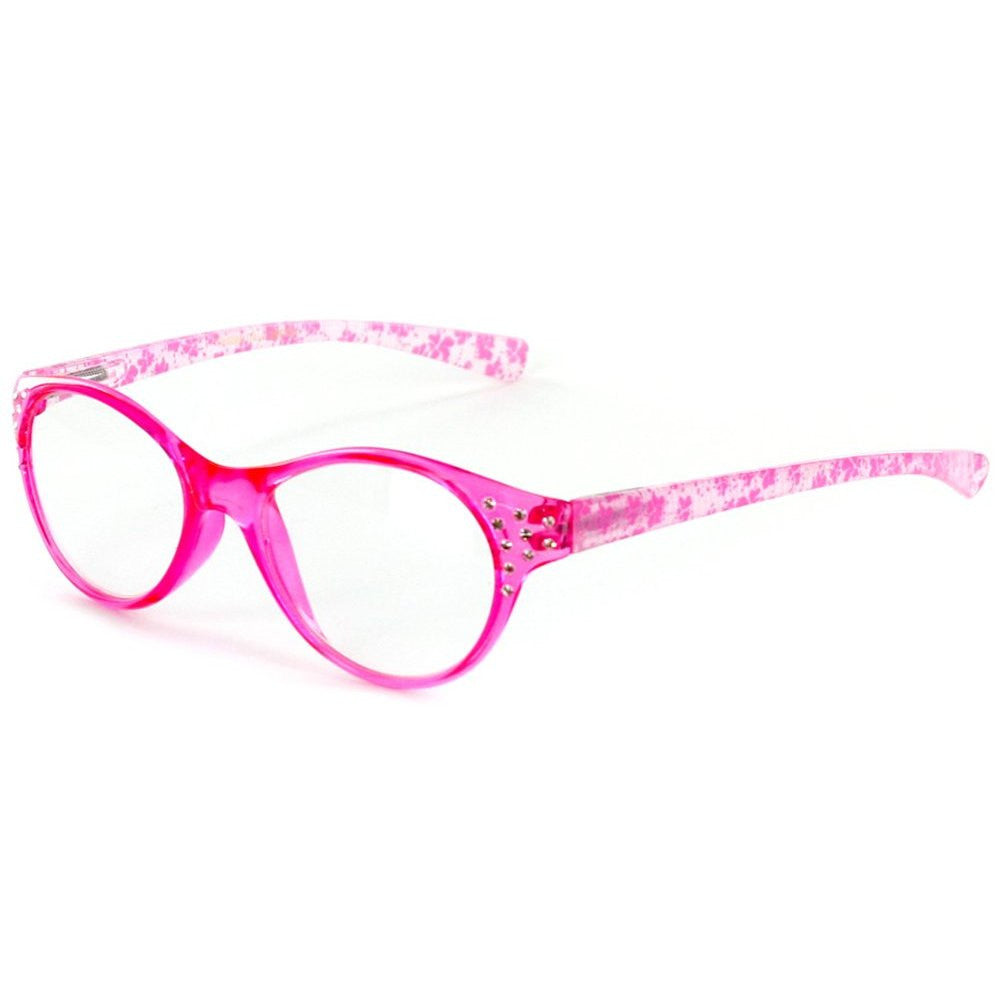 """Crystal Lace"" Cateye Reading Glasses with Multicolored Demi Frames for Stylish Women - Aloha Eyes - 3"