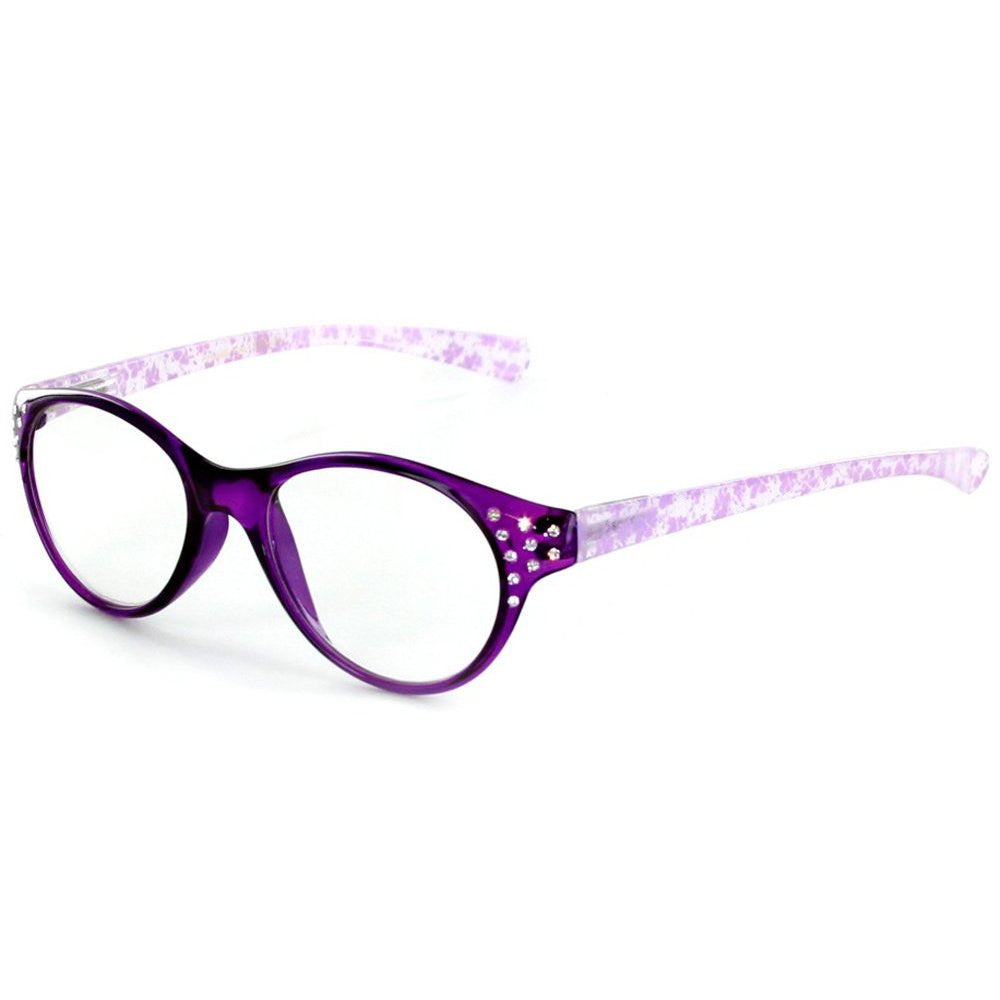 """Crystal Lace"" Cateye Reading Glasses with Multicolored Demi Frames for Stylish Women - Aloha Eyes - 4"