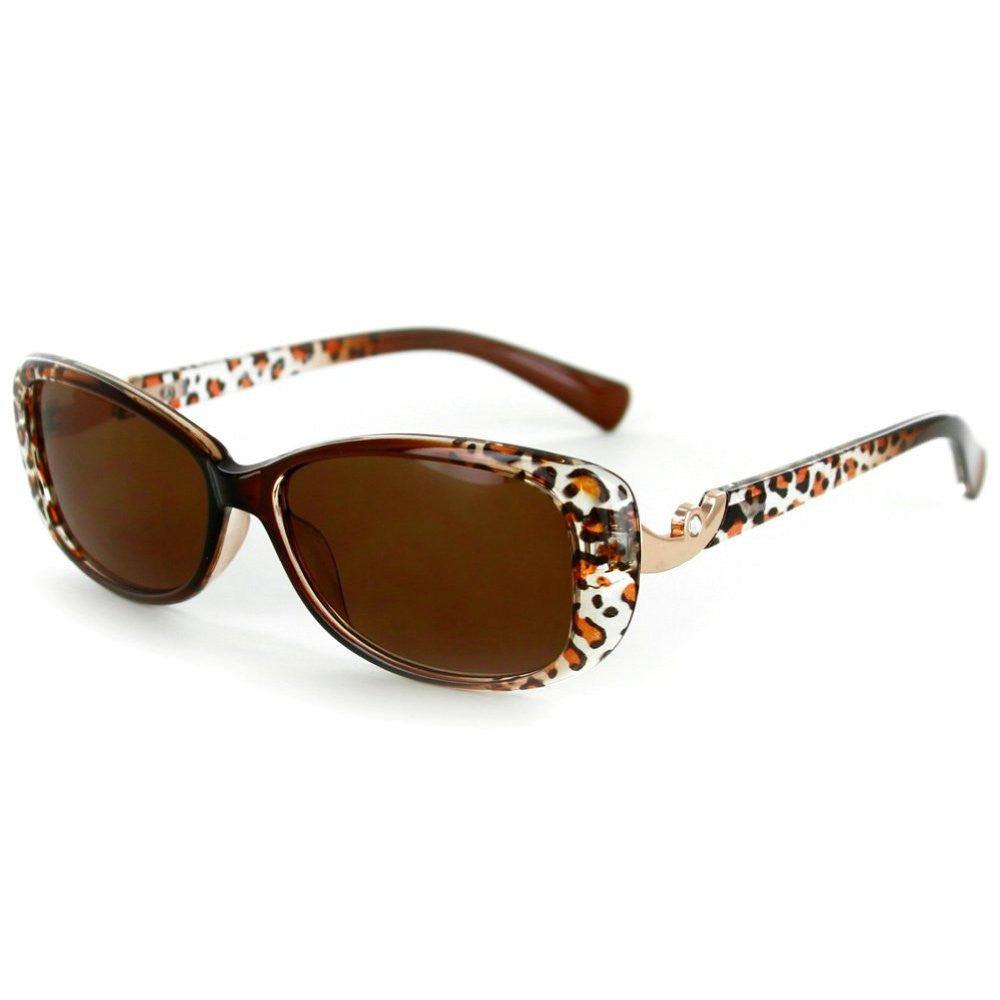 """Lynx"" Rx-Able Cateye Full Reading Sunglasses (No Bifocal) with Animal Print - Aloha Eyes - 2"
