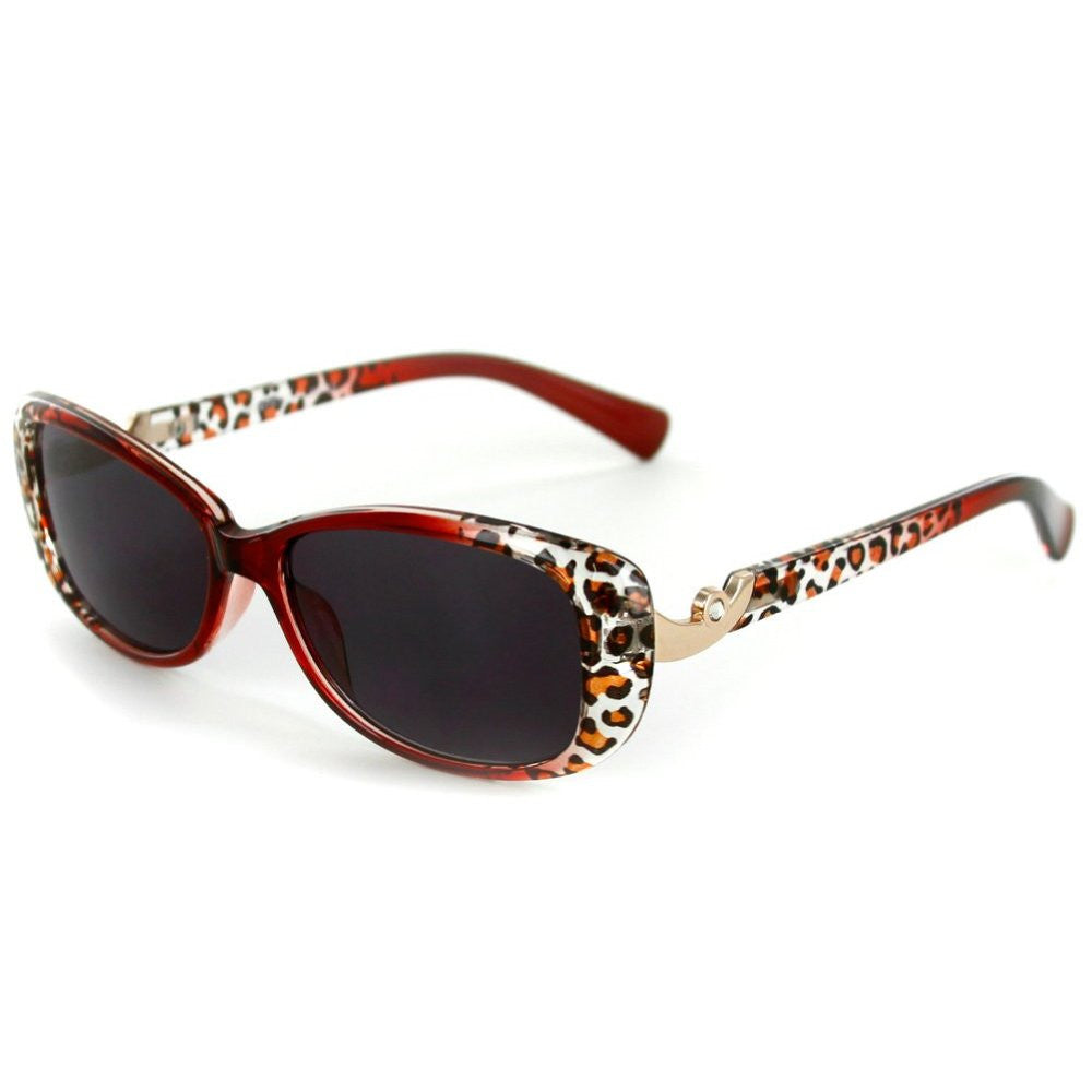 """Lynx"" Rx-Able Cateye Full Reading Sunglasses (No Bifocal) with Animal Print - Aloha Eyes - 4"