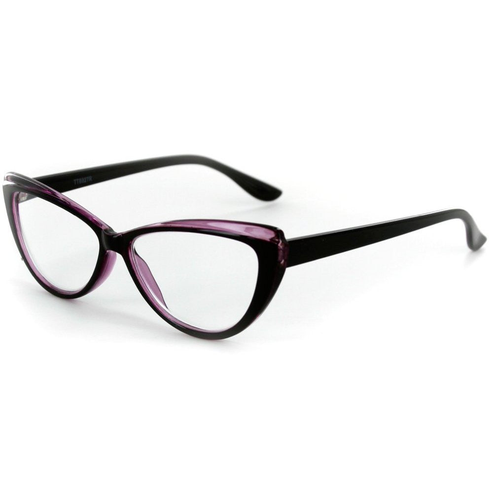 """Caribe"" Reading Glasses with Colorful, Two-Tone Cateye Frames for Women - Aloha Eyes - 3"