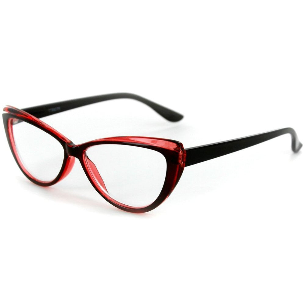 """Caribe"" Reading Glasses with Colorful, Two-Tone Cateye Frames for Women - Aloha Eyes - 4"