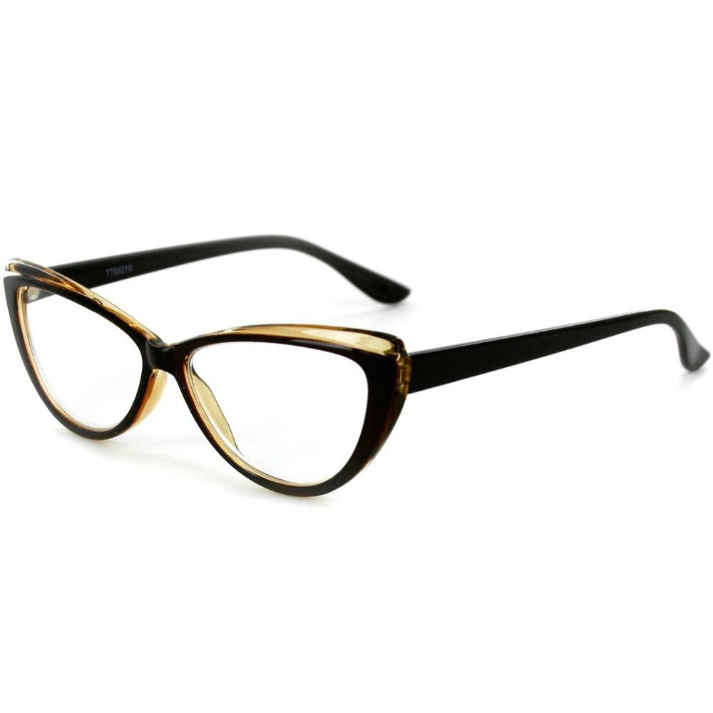 """Caribe"" Reading Glasses with Colorful, Two-Tone Cateye Frames for Women - Aloha Eyes - 2"
