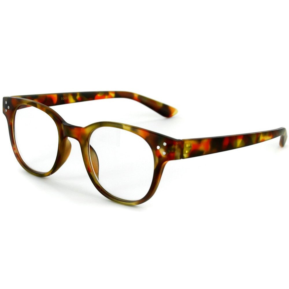 """Metro"" Round Wayfarer Reading Glasses with Studs for Men and Women - Aloha Eyes - 4"