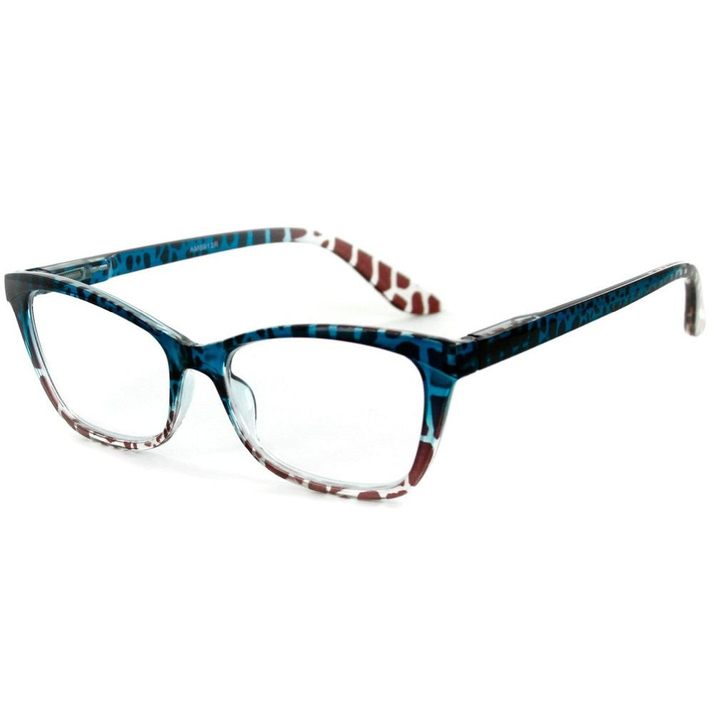 """Serengeti"" Cateye Wayfarer Reading Glasses with Animal Print Pattern for Trendy and Stylish Women - Aloha Eyes - 2"