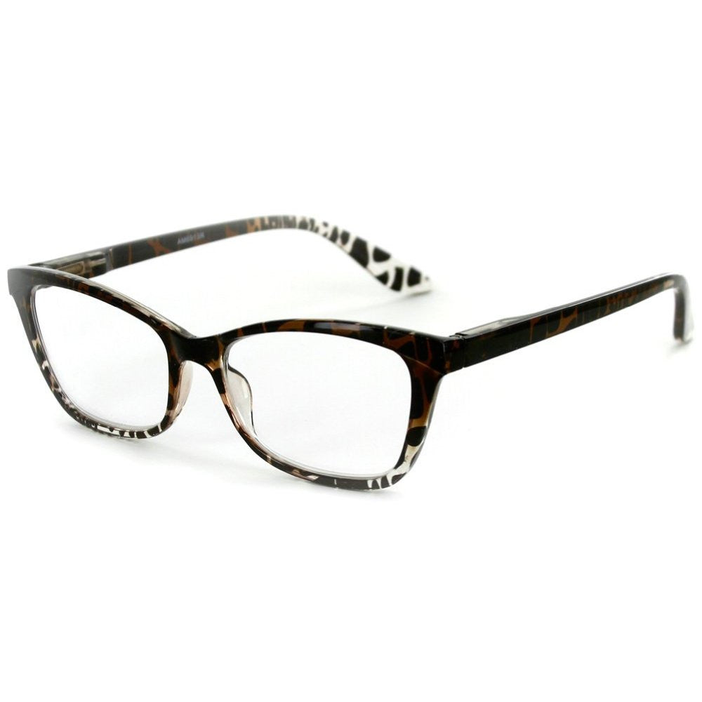 """Serengeti"" Cateye Wayfarer Reading Glasses with Animal Print Pattern for Trendy and Stylish Women - Aloha Eyes - 3"