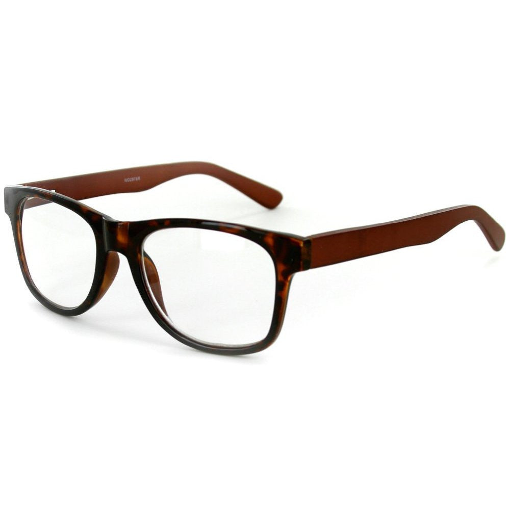 """Zen Master"" Eco-Chic Wayfarer Unisex Reading Glasses with Woodgrain Temples - Aloha Eyes - 4"