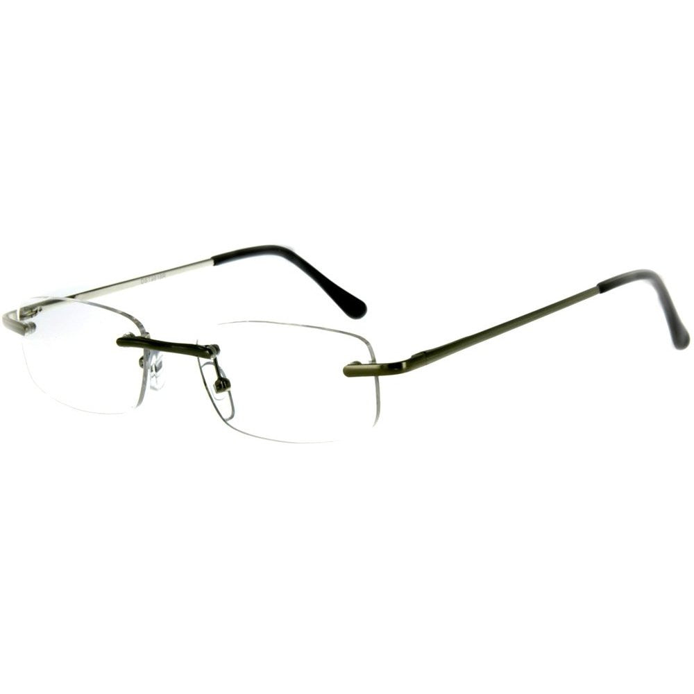 """Simplicity"" Slim, Semi-Rimless Reading Glasses for Modern and Stylish Men and Women - Aloha Eyes - 3"
