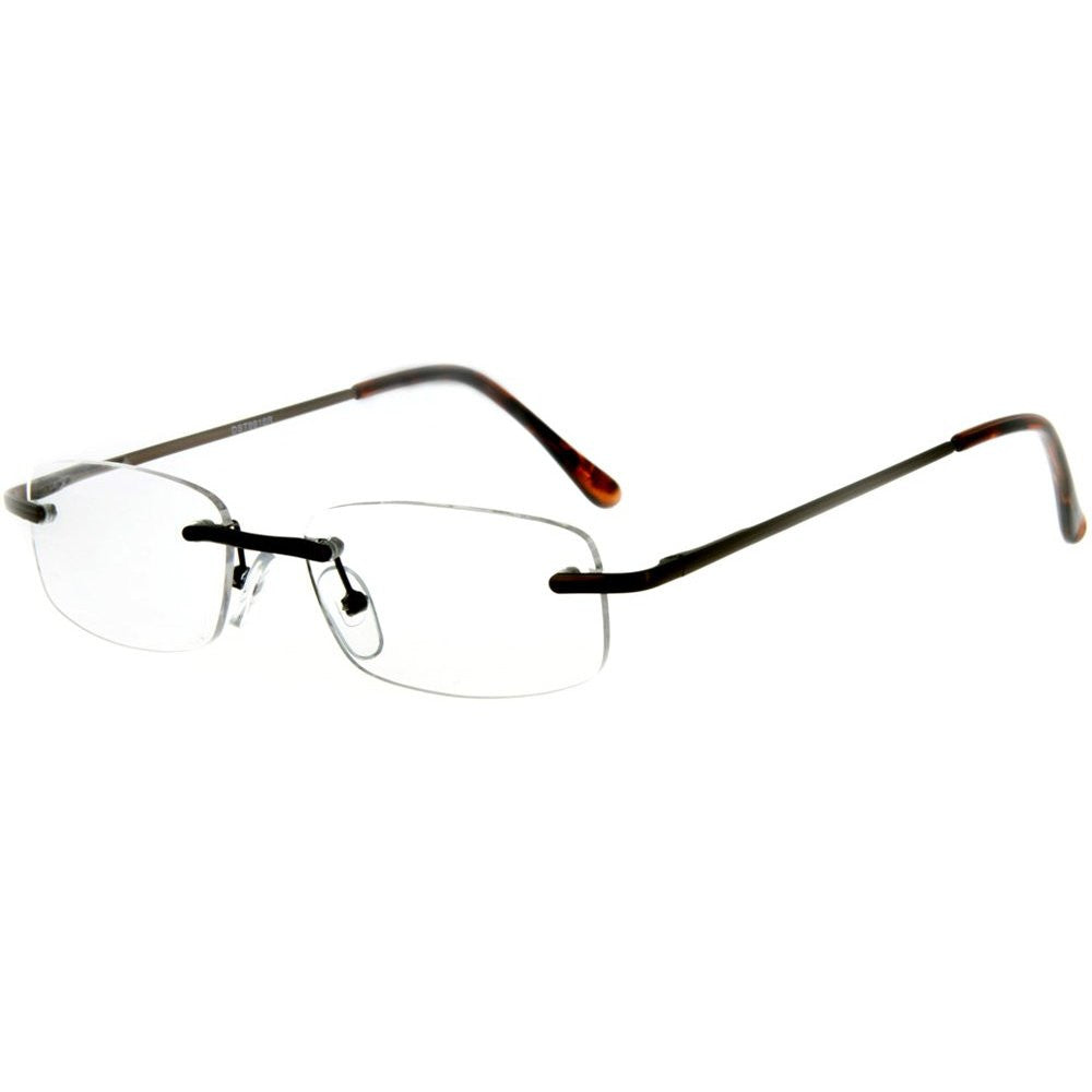 """Simplicity"" Slim, Semi-Rimless Reading Glasses for Modern and Stylish Men and Women - Aloha Eyes - 4"