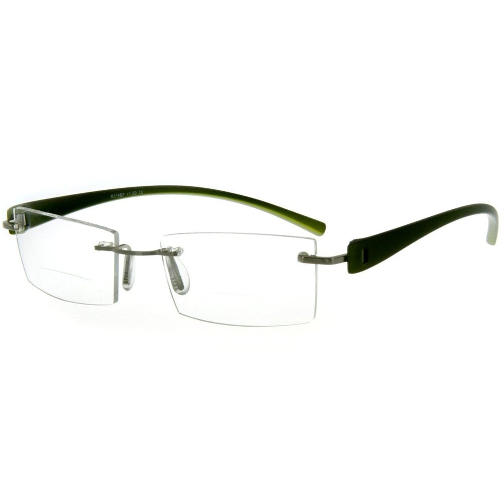 """American Woman DX"" Slim, Semi-Rimless Bifocal Reading Glasses for Stylish Women - Aloha Eyes - 2"