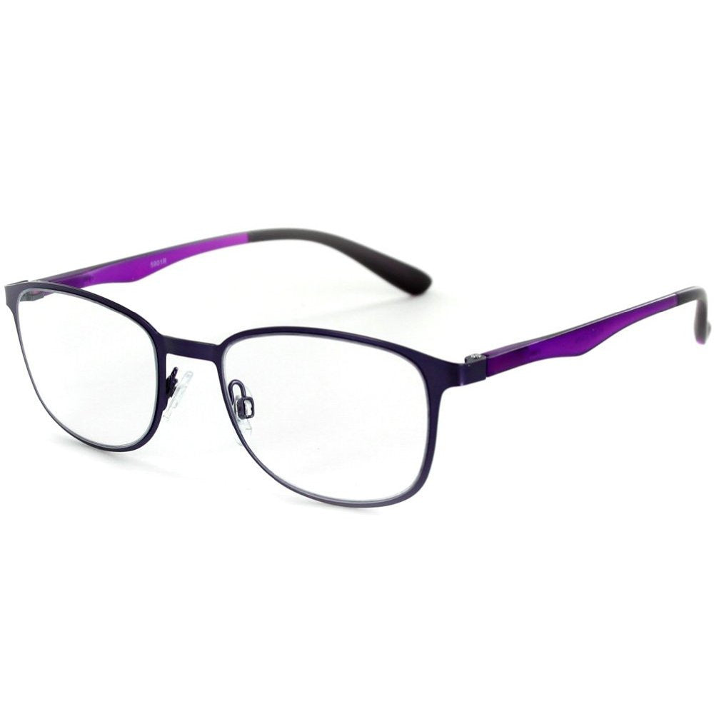 """Destiny"" Metallic Wayfarer Reading Glasses in Four Fashion Colors for Women - Aloha Eyes - 3"