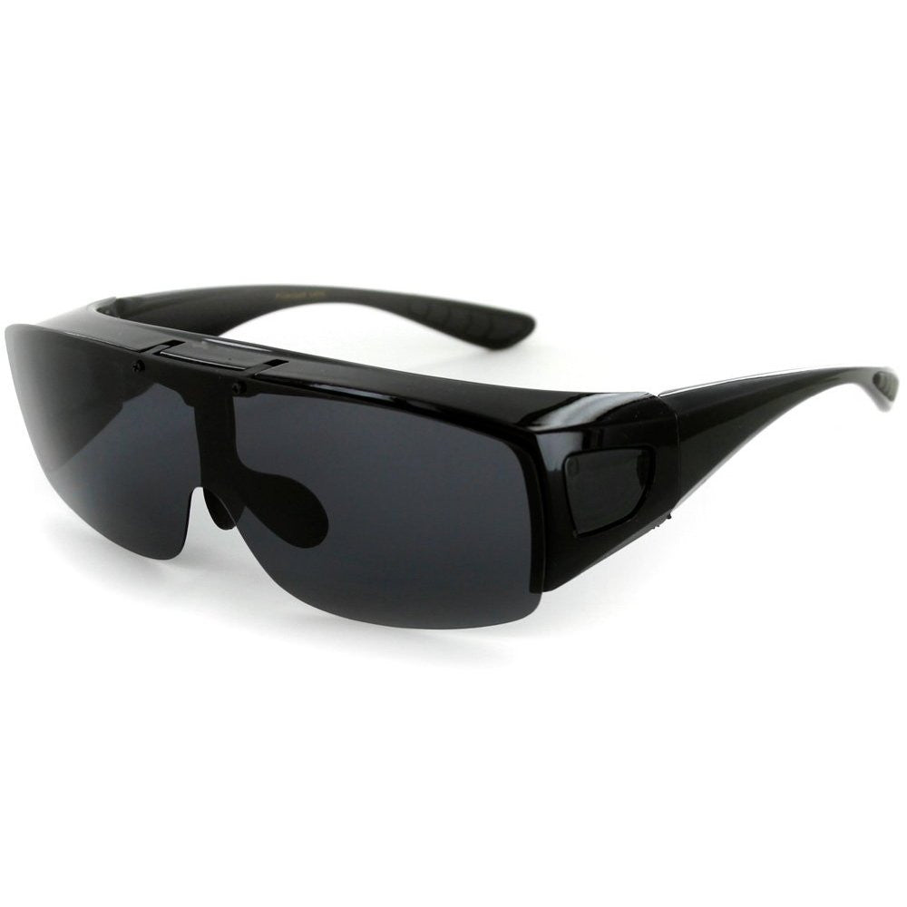 """Flip-Up Coverup"" Cover Over Sunglasses with Polarized Multi-Use Driving Lens - Aloha Eyes - 2"