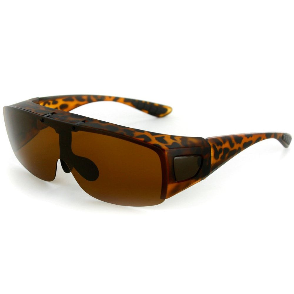 """Flip-Up Coverup"" Cover Over Sunglasses with Polarized Multi-Use Driving Lens - Aloha Eyes - 3"