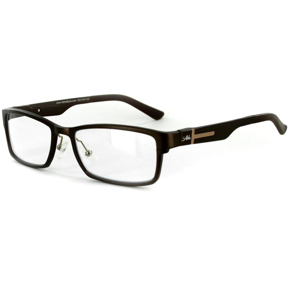"""Alumni RX02"" Optical-Quality Reading Glasses with RX-Able Aluminum Frames for Men - 53mm x 19mm x 145mm - Aloha Eyes - 2"