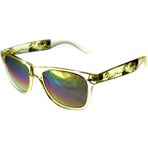 """Love Wins"" Wayfarer Sunglasses with Rainbow Revo Lens for Stylish Men and Women - Aloha Eyes - 1"