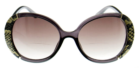 Aloha Eyewear Paparazzi Women's Oversized Round Bifocal Reader Sunglasses with Animal Print