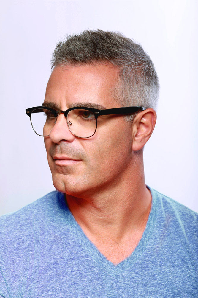 """Retro Man"" Italian designer reading glasses for youthful men who read in style. - Aloha Eyes - 4"