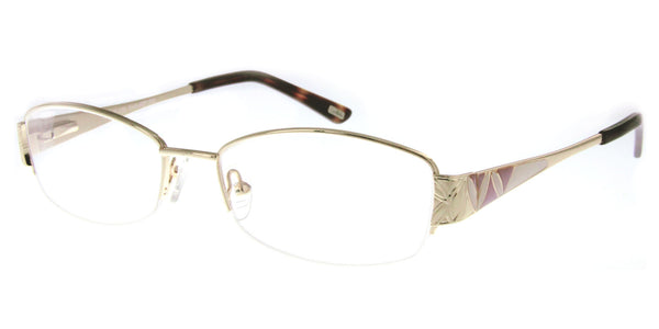 """Whitney"" Optical-Quality RX-Able Oval Frames with Enamel Pattern - Aloha Eyes - 1"