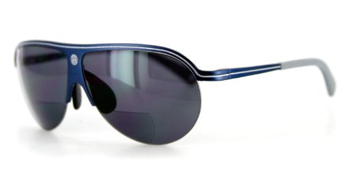 Bahamaz Bifocal Aviator Sunglasses - Optical Lenses & Prescription-ready Aluminum Frames - 60mm x 18mm x 130mm