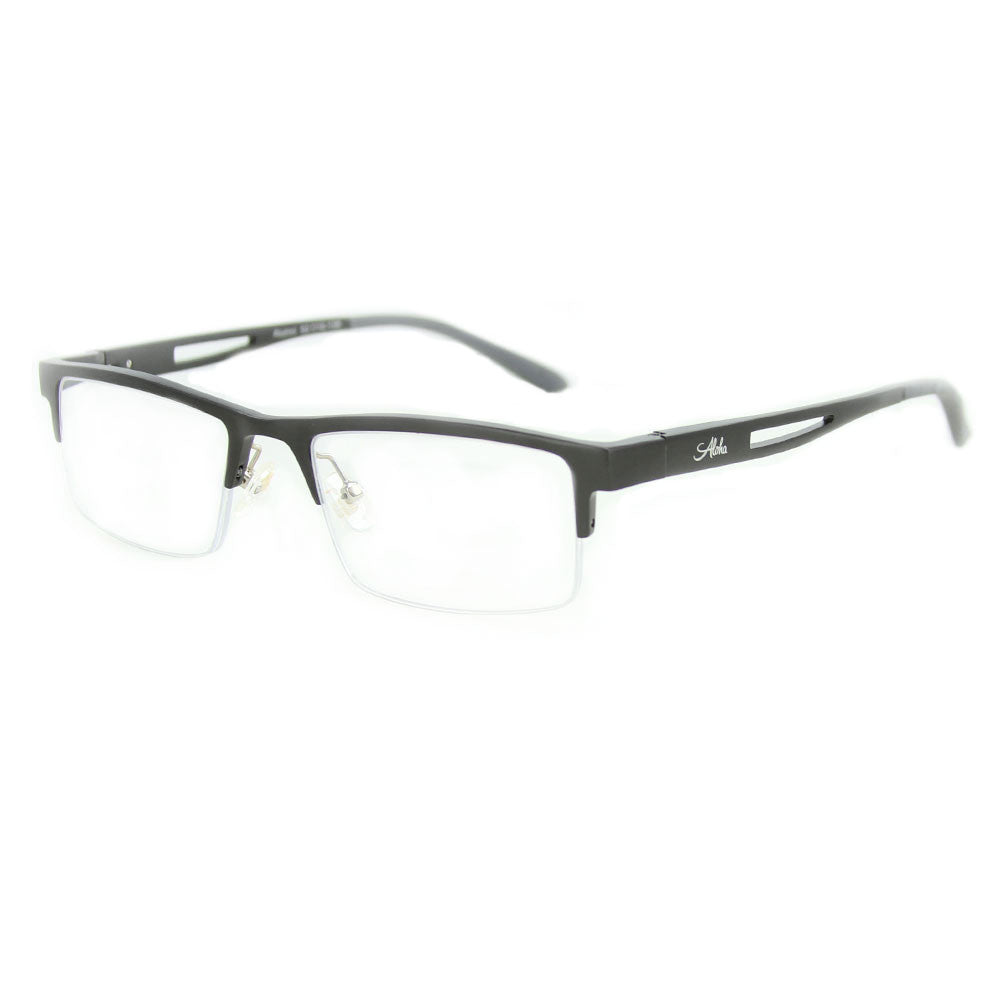 """Alumni RX01"" Optical-Quality Reading Glasses with RX-Able Aluminum Frames for Men and Women 52mm x 19mm x 135mm"